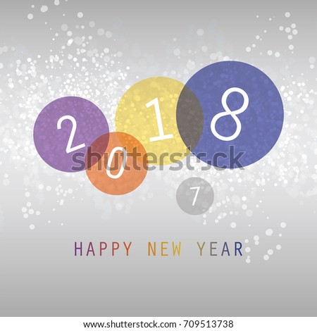 Simple Colorful New Year Card Cover Stock Vector 538023928 ...