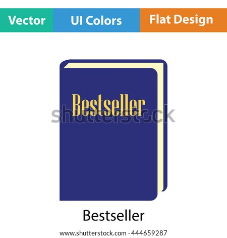 Bestseller book icon. Flat color design. Vector illustration.