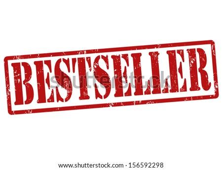 Bestseller grunge rubber stamp on white, vector illustration - stock vector