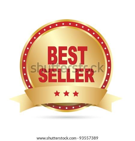 Bestseller label. Vector - stock vector