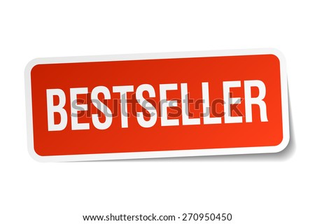 bestseller red sticker isolated on white - stock vector