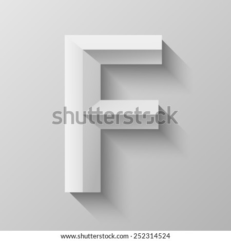 Bevel font with shadow in eps 10 - stock vector