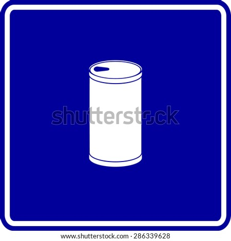 beverage can sign - stock vector