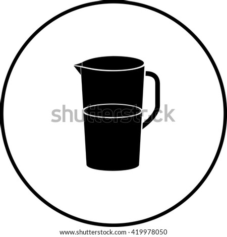 beverage pitcher symbol - stock vector