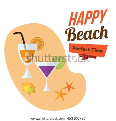 beverages , drink , juice , cocktail on the beach. happy holiday. summer time