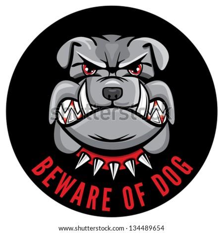 Beware of dog sign - stock vector