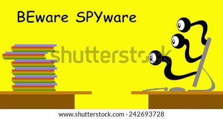 BEware SPYware - stock vector