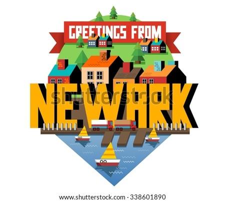 Bewark beautiful city to visit. vector cartoon - stock vector