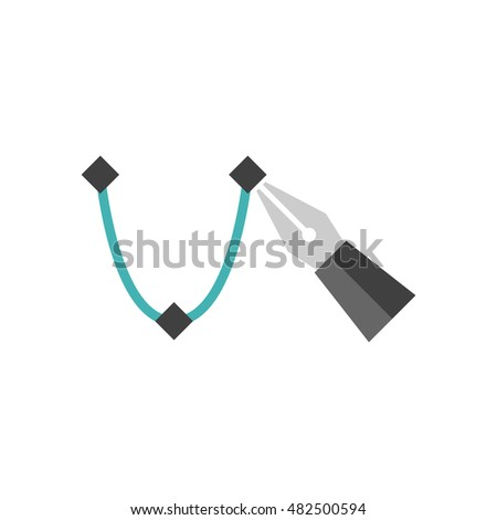 Single color icons printing graphic design stock vector for Computer drawing programs