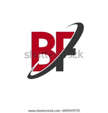 Bf Initial Logo Company Name Colored Stock Vector Hd Royalty Free
