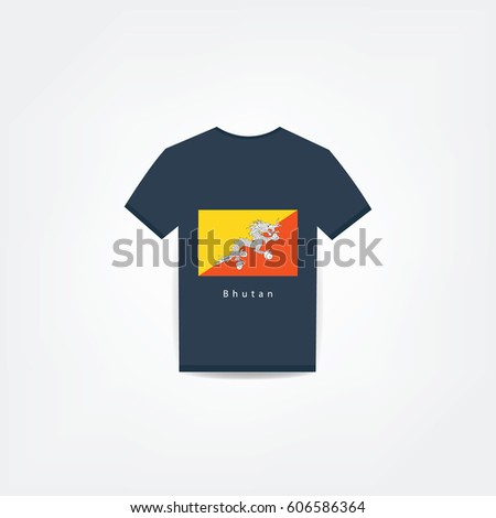 Bhutan On t-shirt design Using For Business or Personal