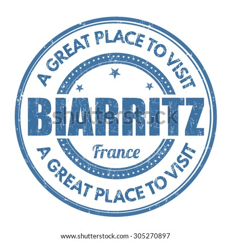 Biarritz grunge rubber stamp on white background, vector illustration