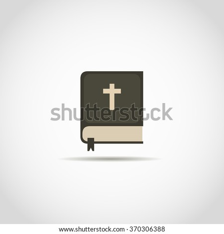 Bible Church logo. the name of the mission. Bible Society. - stock vector