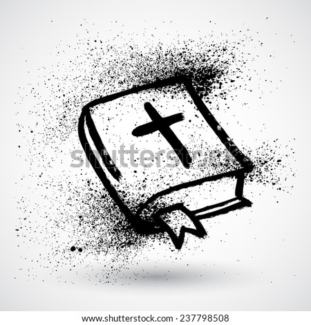 Bible. Grunge style - stock vector