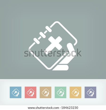 Bible icon - stock vector