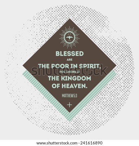 Bible quote hipster design element - stock vector