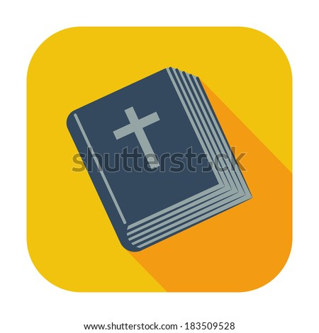 Bible single flat color icon. Vector illustration. - stock vector