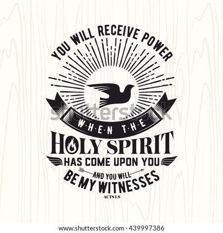 Christian terms and holy spirit