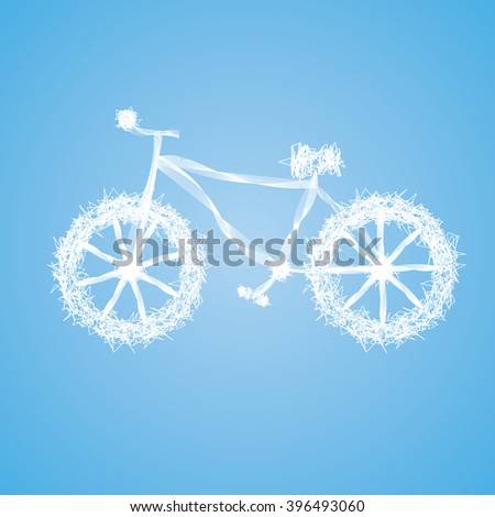 bicycle abstract - stock vector