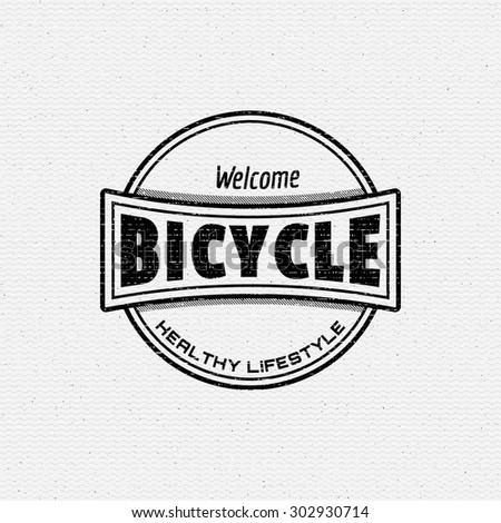 Bicycle badges logos and labels for any use, isolated. It can be used to design a sports club, clothing as prints sales - stock vector
