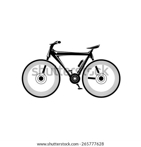 bicycle bike silhouette vector icon or logo - stock vector