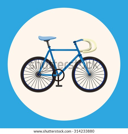 bicycle cartoon design elements vector