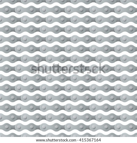 bicycle chain seamless repeating pattern square composition - stock vector