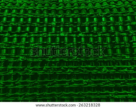 Bicycle chains welded together. Vector background - stock vector