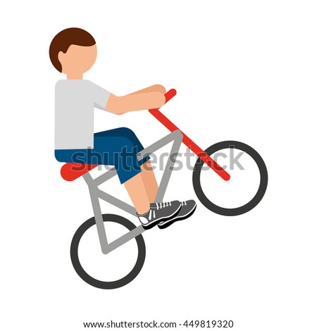 bicycle extreme isolated icon design, vector illustration  graphic