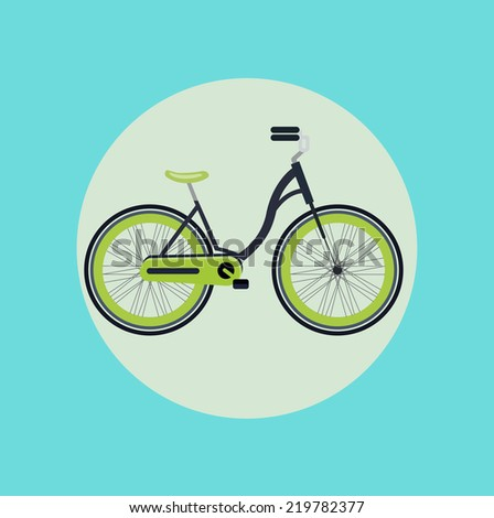 bicycle flat design vector icon