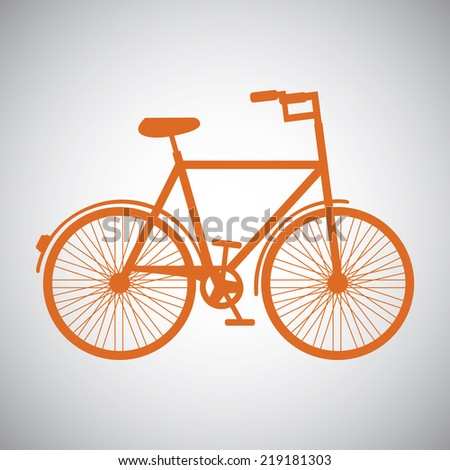 bicycle graphic design , vector illustration