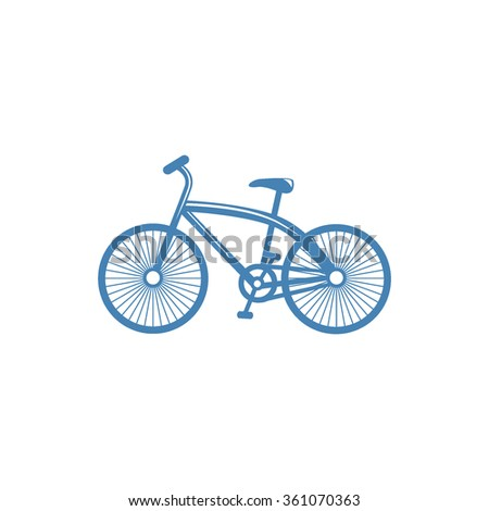 Bicycle icon on white background for web or application vector illustration