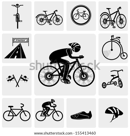 Bicycle icons - stock vector