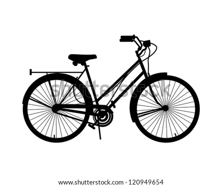 Bicycle illustration - stock vector