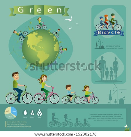 bicycle info graphics. - stock vector