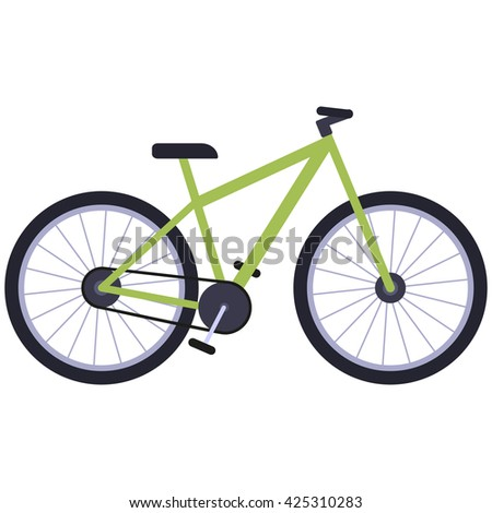 Bicycle isolated on a white background. Vector.