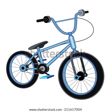 bicycle isolated on white background (vector illustration) - stock vector