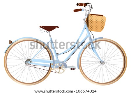 bicycle kruiser - stock vector