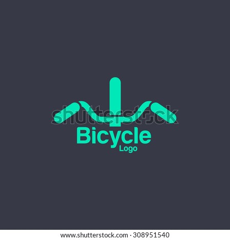 Bicycle logo template. Bike shop Corporate branding identity - stock vector
