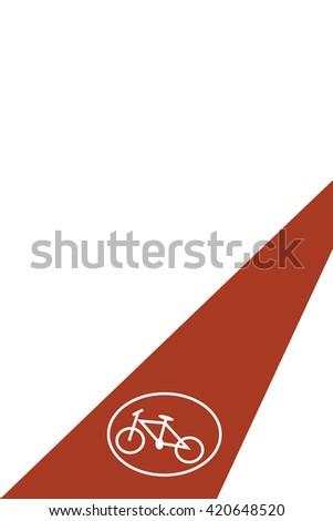 Bicycle path. Road sign. Vector illustration of the bicycle path with the Bicycle road sign. Empty space leaves room for design elements, custom signs or text. Postcard. Poster. Background. - stock vector