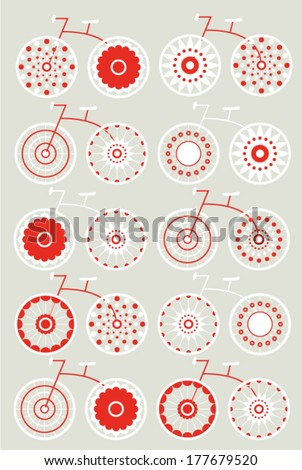 Bicycle Pattern - stock vector