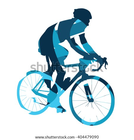 Bicycle race, abstract vector cyclist, cycling, bike, bicyclist - stock vector