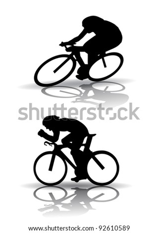 bicycle Silhouette - stock vector