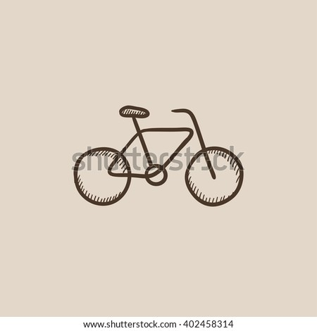 Bicycle sketch icon.