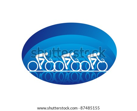 Bicycle sports icon, such a logo. Rasterized version also available in gallery - stock vector