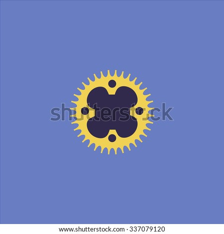 Bicycle sprocket. Icon Vector. Icon Picture. Icon Graphic. Icon Art. Icon JPG. Icon JPEG. Icon EPS. Icon AI. Icon FLAT. Icon SIMPLE - stock vector