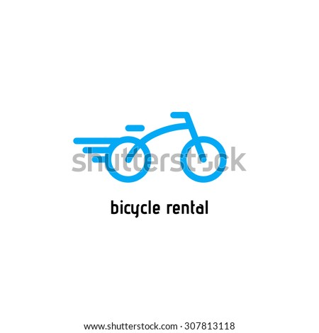 Bicycle vector logo. Design template - stock vector