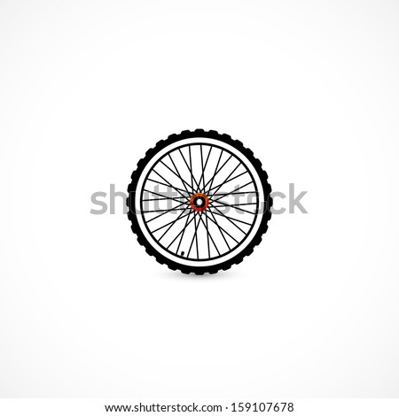 Bicycle wheel - stock vector