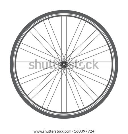 bicycle wheel - stock vector