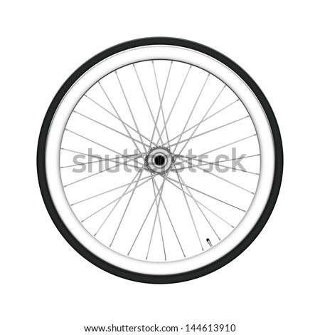 Bicycle wheel. Fixed gear